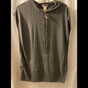 New Forever 21  Gray Knit Top Hoodie Vest M shirt